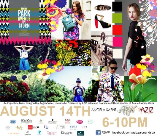 Angela Saenz for AZIZ Salon and Day Spa Austin Fashion Week 2012