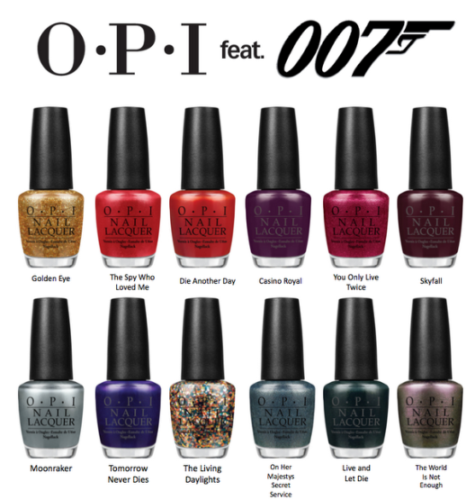 AZIZ Salon Nails OPI Collection Skyfall 007 James Bond Adele Nails