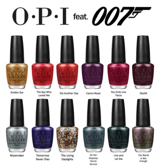 AZIZ Salon Nails OPI Collection Skyfall 007 James Bond Adele Nails