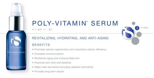 IS Clinical Poly Vitamin Serum available at AZIZ Salon and Day Spa Austin October breast cancer