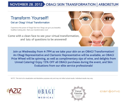 OBAGI Skin Transformation Event in North Austin | Arboretum