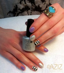 Ana Shellac Nails and Chevron