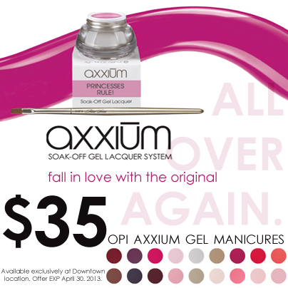 opi axxium gel mani deal