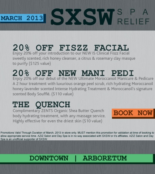 Exclusive Spa Deals During March and SXSW